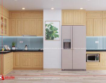 Tủ bếp sồi nga QC-32