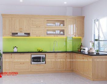 Tủ bếp sồi nga QC-33