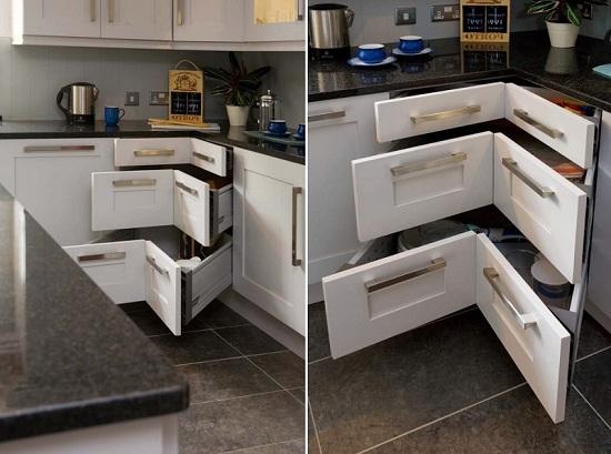 Mẫu tủ bếp thông minh đẹp sang trọng cho không gian nhỏ