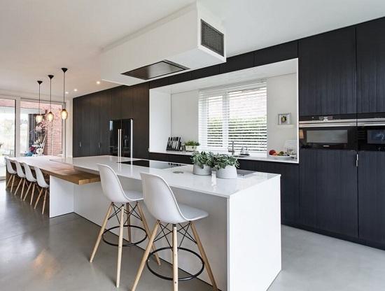 Tủ bếp thông minh thiết kế âm tường